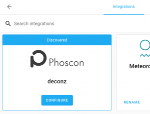 Integrate Phoscon devices to Home Assistant